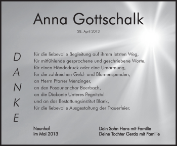 Zur Gedenkseite von Anna Gottschalk